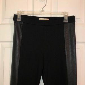 Michael Kors half leather leggings